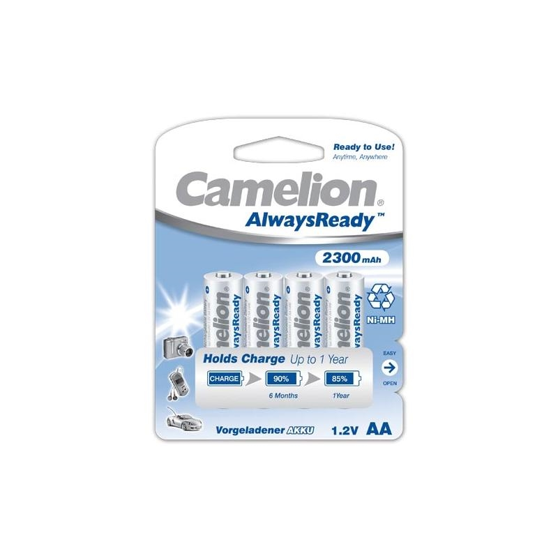 4-x-NiMH-Akku-1-2V-2300-mAh-Mignon-AA-HR6-Ready-to-Use-Always-Ready-Camelion