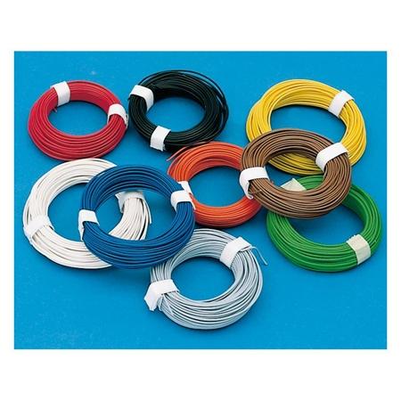 Kupfer-Schaltlitze/-draht 0,14-0,75mm² 10m/100m-Ringe Farbe frei wählbar