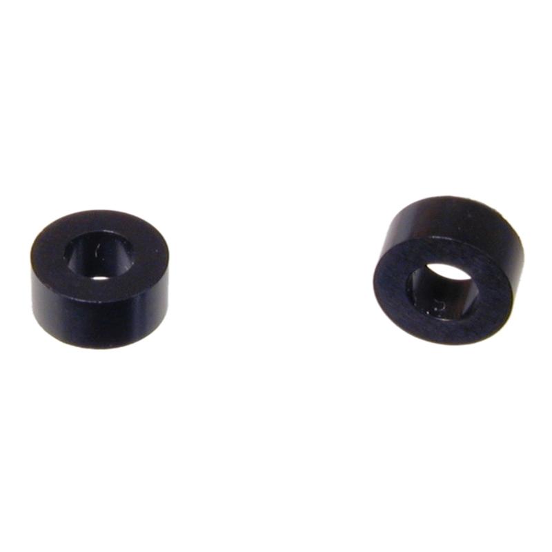 Kunststoff-Distanzrolle 4mm lang Innen-ø 3,6mm aus schwarzem Polystyrol