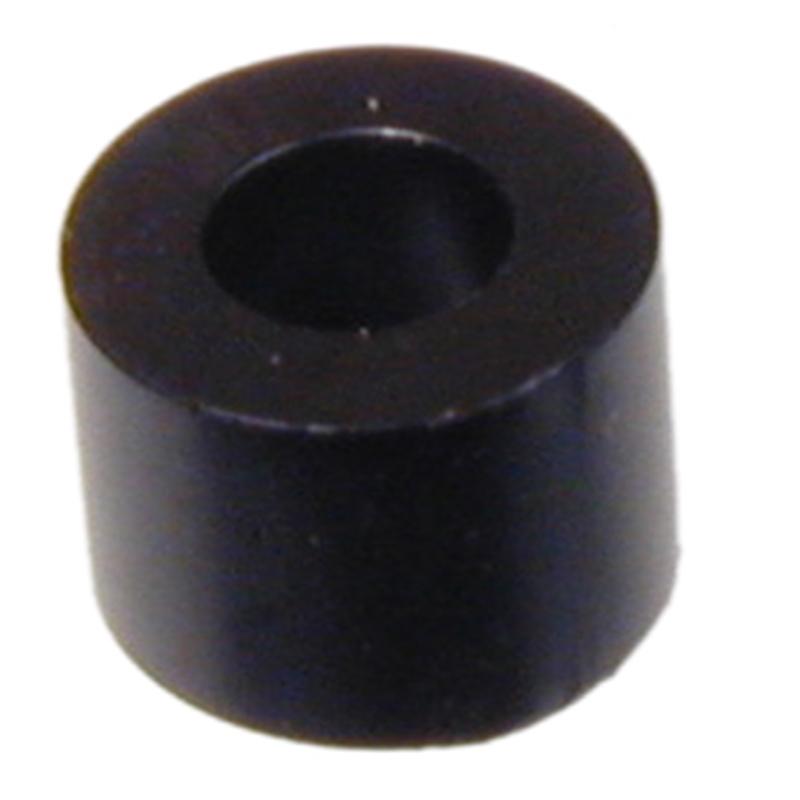 Kunststoff-Distanzrolle 30mm lang Innen-ø 3,6mm aus schwarzem Polystyrol