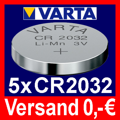 5x-CR2032-Lithium-Knopfzelle-3V-CR-2032-VARTA-lose