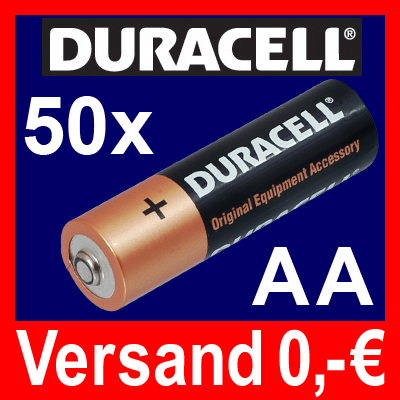 50-x-MIGNON-AA-LR6-UM3-MN1500-Batterie-DURACELL-OEM