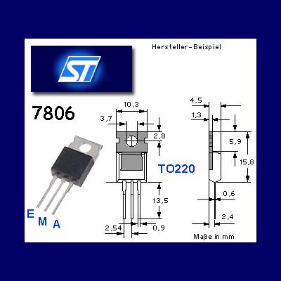 10x-Spannungsregler-7806-6V-1A-TO220