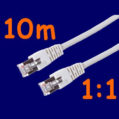 Netzwerk-Kabel-Patchkabel-FTP-CAT5e-1-1-grau-10m
