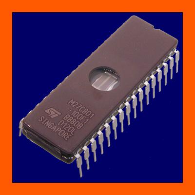 EPROM-27C080-100-1Mx8-100ns-M27C801-100F1-DIC32
