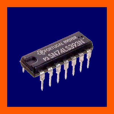 5x-LS393-SN74LS393-Binaer-Zaehler-2-fach-DIP14