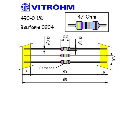 Metallschicht-Widerstand 270 Ohm 1/% 0,4W Bauform 0204 gegurtet